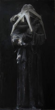 Nicola Samorì - 'Adulto (Adult)' - 2013, oil on linen, 200 x 100 cm