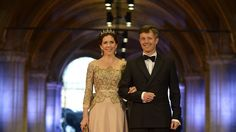 Prince Frederik and Princess Mary arrive for a banquet hosted by the Dutch Royal family at the Rijksmuseum, Amsterdam, The Netherlands in April.