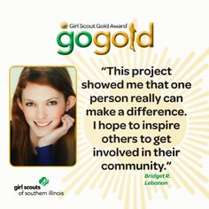 Bridget R. earned the Girl Scout Gold Award project to designing an interactive sensory room for Route 21, a transition house at O'Fallon Township High School that helps autistic students become accustomed to life after school.