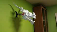 This papercraft is Alduin Head, the game The Elder Scrolls V: Skyrim, the paper model is created by Kiryl Kavalyonak. The size of finished model is about 6