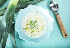 Potato Leek Soup recipe for a warm winter pick me up.
