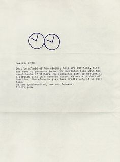 Letter from Felix Gonzales-Torres to Ross Laycock  @Al Baxter Didn't I tell you…