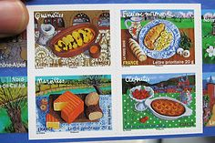 Beautiful French postage stamps