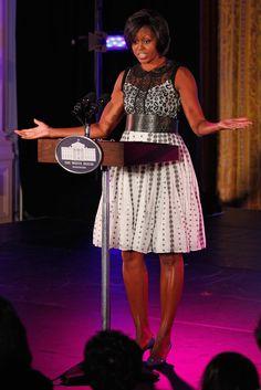Michelle Obama Wearing Black Designers   - 14 Times Michelle Obama Rocked a Black Designer And Killed It, Obvi