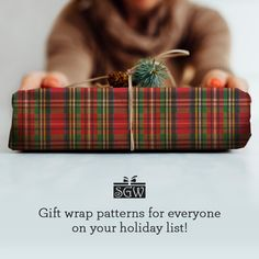 Tartan plaid gift wrap is embossed and comes on premium 50# paper. Shop our holiday styles today!  #Giftwrap