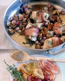 Don't be afraid to splurge on the wild mushrooms. You do not need very many, and they add fantastic flavor to this dish. Serve with Spaetzle with Butter and Parsley.