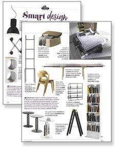 Smart Design! TRACKS table design Alain Gilles & SECRET pouf design Mauro Lipparini in Casa Facile magazine. #design #press