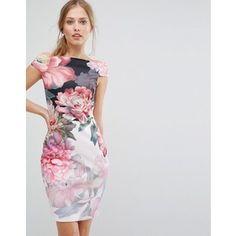 Ted Baker Painted Posie Off Shoulder Dress