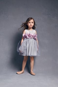 Nellystella Love Blossom Dress in Artic Ice with Lavender Flower Pre-o – The Girls @ Los Altos