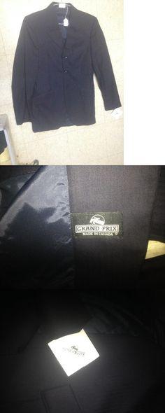 Black melton wool hunt coat