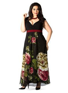 Plus Size Fantasy Floral Plus Size Gown at Curvalicious Clothes TAKE 15% OFF! Use code: FALL15