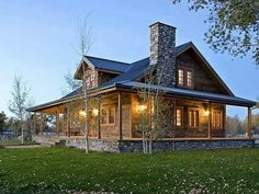 Incredible porch, love the stone!