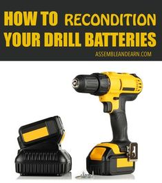 DIY Battery Reconditioning - Learn to restore all your tool and drill batteries to new like condition. Make them last 3 times longer. Simple ways to recondition all your batteries. Save Money And NEVER Buy A New Battery Again Cordless Drill Batteries, Power Tool Batteries, Cordless Tools, Power Tools, Ryobi Battery, Woodworking Projects That Sell, Woodworking Tips, Woodworking Furniture, Timber Furniture