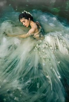A-line Off-the-shoulder Court Train Tulle Prom Dress/Evening Dress # Beautiful Fantasy Art, Beautiful Gif, Fantasy Love, Angel Pictures, Love Pictures, I Love You Animation, Animated Love Images, Beautiful Women Videos, Lovely Girl Image