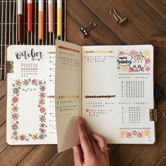 Was ist Bullet-Journaling und wie fange ich an? What Is Bullet Journaling & How Do I Start Bujo Inspiration Oktober Bullet Journal October, Bullet Journal Set Up, Bullet Journal Layout, Bullet Journals, Journal Organization, Journal Aesthetic, Journal Design, Journal Inspiration, Planer