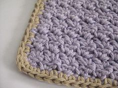 CraftyRie: Free Pattern:: Crochet an Easy Peasy Washcloth  ༺✿Teresa Restegui http://www.pinterest.com/teretegui/✿༻
