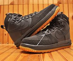 low priced 12f41 bf1c6 2016 Nike Lunar Air Force 1 DuckBoot Size 10-Black Wheat Gum Bottom- 805899  003   Clothing, Shoes   Accessories, Men s Shoes, Athletic   eBay!