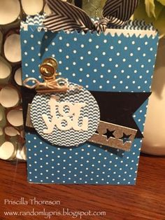 Masculine Stampin' Up Mini Treat Bag - Gift Card Holder