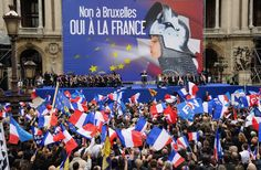 Supporters of the French far-right National Front party rally in Paris last May. Pierre Andrieu/ AFP/ Getty Images