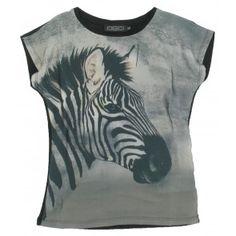 Geisha - T-shirt Zebra zwart