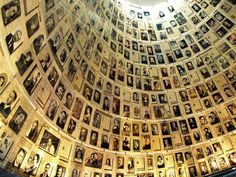 """I wanna visit thr Holocaust Museum, Israel. This """"Hall of Names"""" provides the names and some photos of the 6 million Jews who died in the Holocaust of WWII. History Museum, World History, World War, Jewish History, Terre Promise, Holocaust Survivors, Holocaust Memorial, Lest We Forget, Greek Isles"""