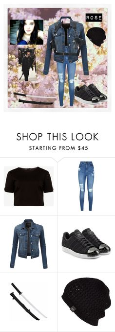 """""""Rose #17"""" by christiana-samuel ❤ liked on Polyvore featuring Ted Baker, Lipsy, LE3NO, adidas Originals and UGG Australia"""