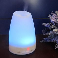 Amir® Aromatherapy Essential Oil Diffuser Ultrasonic Cool Mist Aroma Humidifier With Color LED Lights Changing and Waterless Auto Shut-off Fuction for Home, Yoga, Office, Spa, Bedroom, Baby Room