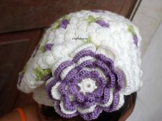 OMG, how beautiful is this crochet rose hats tutorial ~ free pattern