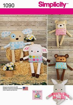 Stuffed Animals Pattern Homemade Toy Animals Pattern by blue510