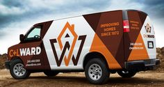 Proposed fleet branding for a home remodeling company. - NJ Advertising Agency…