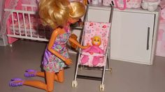 Como fazer um Carrinho de Bebê para boneca Monster High, Barbie, etc