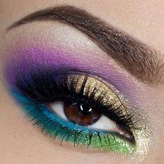 Peacock eyes.