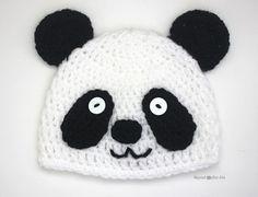 Crochet Panda Bear Hat - FREE PATTERN - Repeat Crafter Me