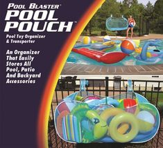 Store And Carry All Of Your Pool Supplies And Accessories Within The Large  Volume Of The Pool Blaster® Pool Pouch Carrier And Organizer.