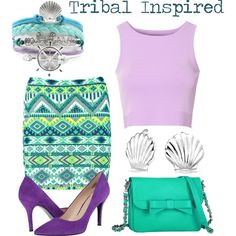 Disneybound: Ariel by swagshark on Polyvore featuring Glamorous, Boohoo, Nine West, Knights and Roses and Bling Jewelry