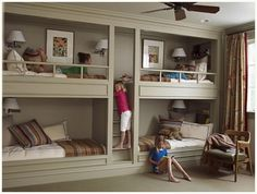 bunk beds.  Too awesome!  If we have too many more kids, Evan is totally making this for me :-)