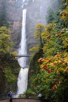 Multnomah Falls, Oregon - A spectacular drive along the Columbia River Gorge