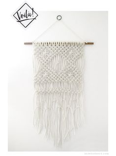 macrame wall hanging tutorial diy knots dupetitdoux macramé tenture murale…