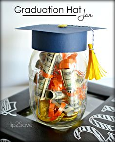 Graduation Hat Jar (Graduation Gift Idea). This is a wonderful handmade gift that will bring a smile to any graduate's face.