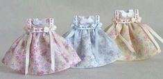 Darling little girl dresses in miniature