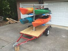 CarriCo Watersports Kayak Carrier Rack Canoes Boats Paddleboard SUP For Trailer