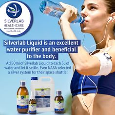 Silverlab Liquid is an excellent water purifier and beneficial to the body. Ad 50ml of Silverlab Liquid to each 5ml of water. Even NASA selected a silver system for their space shuttle! For more information on the full Silverlab range, visit www.silverlab.co.za Available without the prescription at: www.takelot.com www.wellnesswarehouse.co.za www.dischem.co.za and leading pharmacies and health shops. #SilverLab#Wellnesswarehouse #Dischem #Takealot #Skin Silver Labs, Health Shop, Space Shuttle, Pharmacy, Nasa, The Selection, Health Care, Take That, Shops