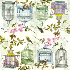 4 x Single Luxury Paper Napkins for Decoupage and Craft Vintage Birdcages Paper Napkins For Decoupage, Decoupage Paper, Vintage Pictures, Pretty Pictures, Paper Art, Paper Crafts, Boarders And Frames, Hand Painted Cakes, Paper Birds