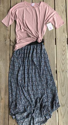 Lularoe Irma Lucy flat lay outfit