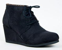 REX Designer toms Inspired Stitch Detail Lace Up Ankle Bootie Wedge, Black IMSU, 5.5 City Classified,http://www.amazon.com/dp/B00A9OXL30/ref=cm_sw_r_pi_dp_kNvjsb087VCWSXHF