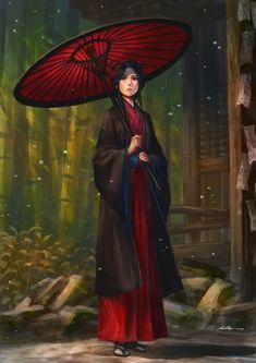 Asian people in fantasy, sci-fi, and surreal art. Character Creation, Character Concept, Character Art, Concept Art, Character Design, Fantasy Kunst, Fantasy Art, Kubo And The Two Strings, Samurai Artwork