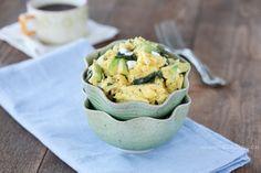 Avocado, Spinach, and Chèvre Scramble - Against All Grain