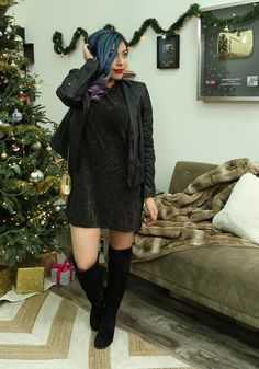 b7a32b3d8b6 Love this dress from  Nastygirl and the beautiful suede boots from  Aldo  Tiffany Quake
