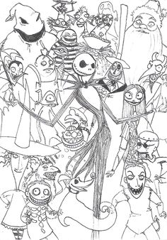 extraordinary nightmare before christmas coloring page best - Nightmare Before Christmas Coloring Pages