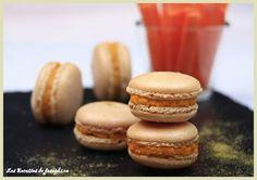 Macarons salées pour l'aperitif avec une garniture aux carottes parfumée au cumin - Recette Entrée : Macarons salés aux carottes et cumin par Lesrecettesdejosephine